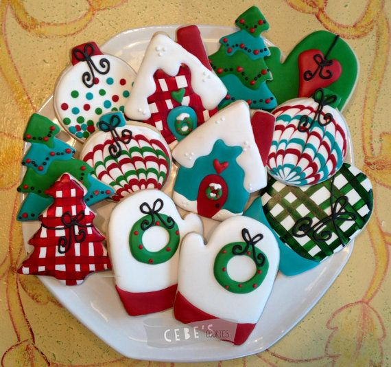 Cozy Christmas by CebesCookies on Etsy, $40.00