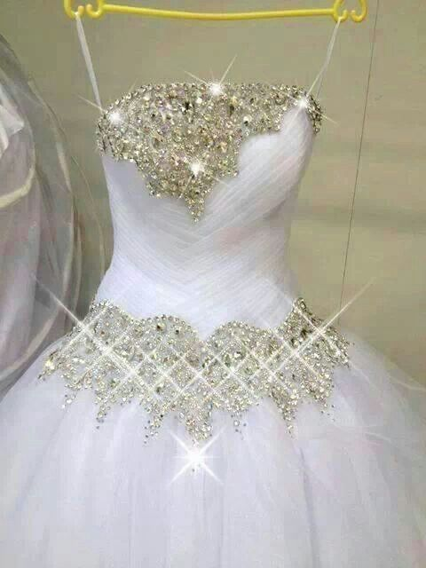 Sparkle wedding dress wedding ideas pinterest for Wedding dresses with sparkles