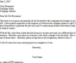 how to write a quitting job letter