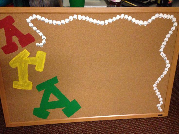 GT Alpha Gam crafting - AGD corkboard