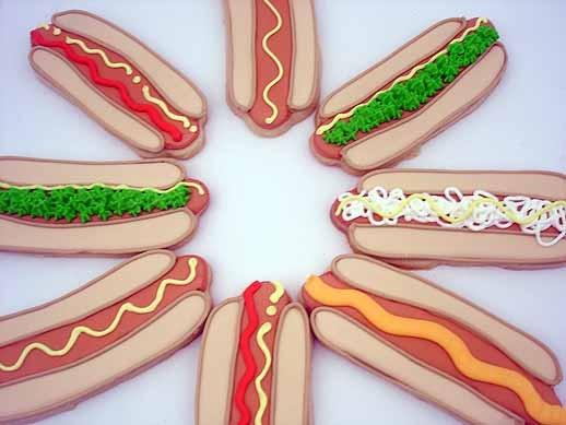 Hot Dog Cookies Recipe — Dishmaps