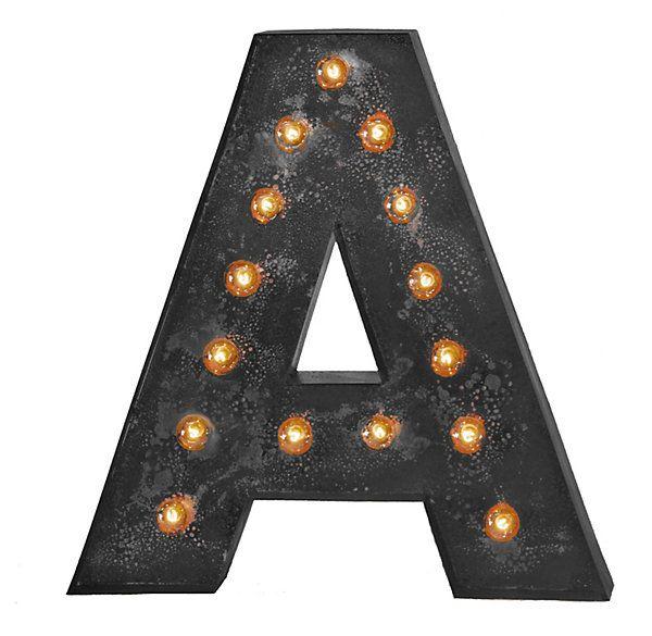 black light up letter a z With black light up letters