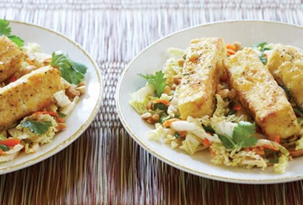 Warm Cabbage Salad with Crispy Tofu | Recipe