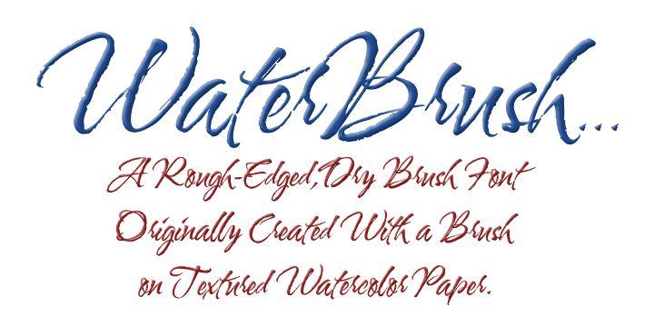 Water brush font love pinterest