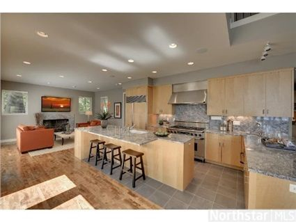 Large Open Gourmet Kitchen With Island Kitchens