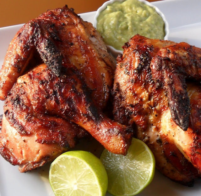 Peruvian Style Grilled Chicken With Green Sauce Recipe ...