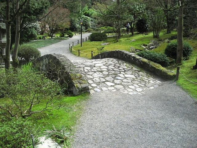 Stone Bridge Japanese Garden In Seattle Exterior Gates