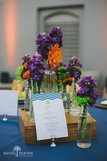Crocker Art Museum Wedding Photos - colbolt blue and green wedding colors - Sarah Maren Photographers