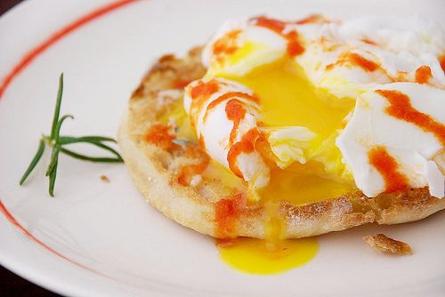 Poached egg on English muffin | Eggcellent | Pinterest