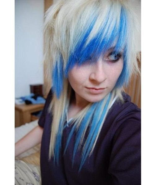 Blonde with blue dyed underneath layers | Free as my hair | Pinterest
