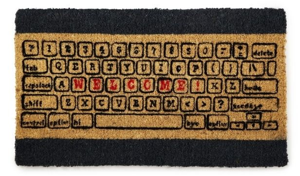 Computer Keyboard Welcome Doormat