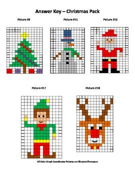 Hidden Pictures Graph Coordinate Coloring - Christmas Pack | VP