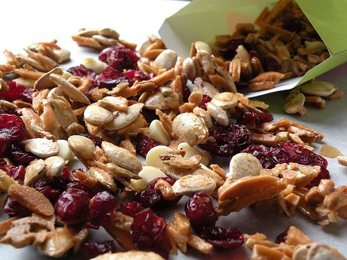 Pumpkin Seed Cranberry Trail Mix. Ridiculously good. Wow.