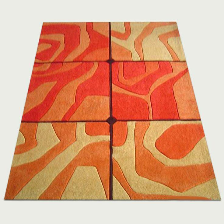 Orange and yellow rug