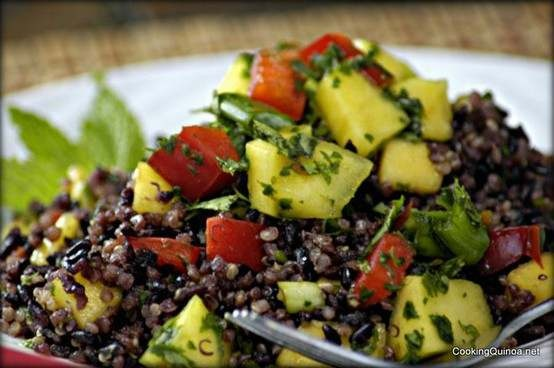thai black rice & quinoa salad | Salads and Sandwhiches | Pinterest
