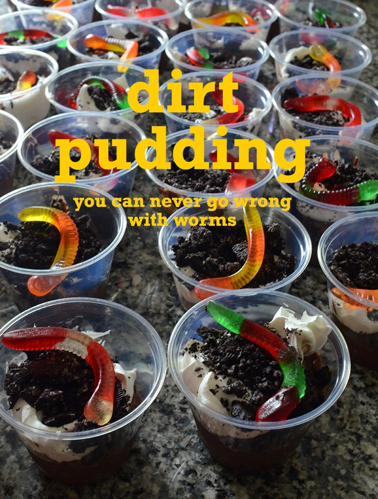 Dirt Pudding: chocolate pudding, whipped cream, crushed chocolate ...