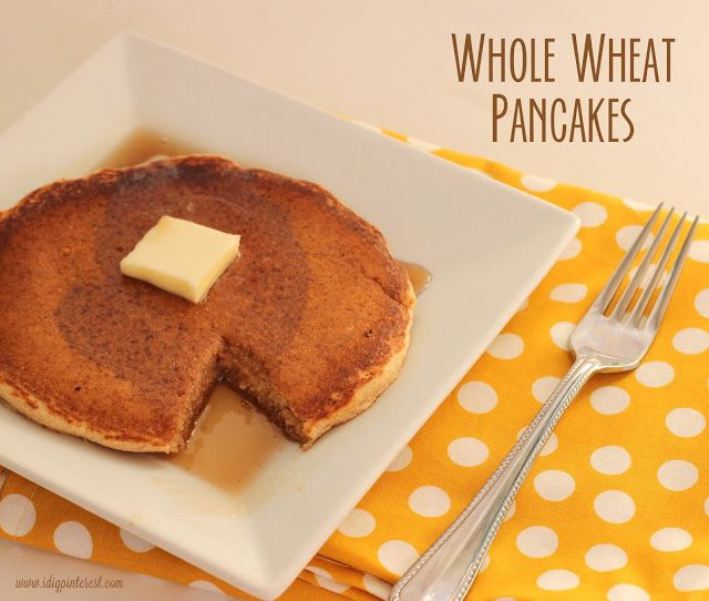Dig Pinterest: Whole Wheat Pancakes I used four T of honey instead ...