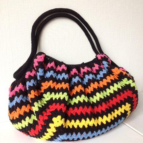 LINDEVROUWSWEB: Granny Square bag Crochet Pinterest