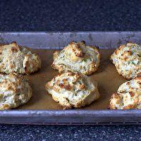 Blue Cheese Scallion Drop Biscuits by Smitten Kitchen