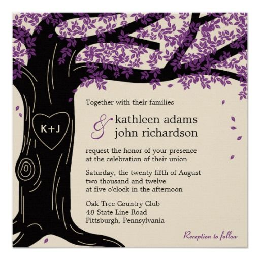 Oak Tree Wedding Invitations and get inspiration to create nice invitation ideas