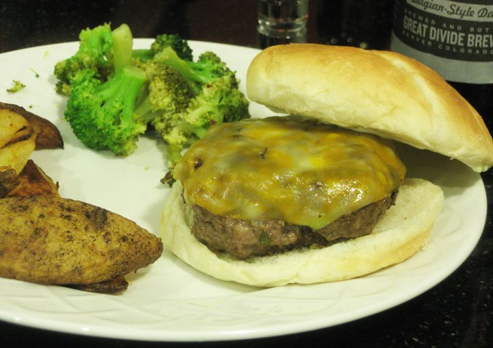 Venison burger | Yummy Food To Cook | Pinterest