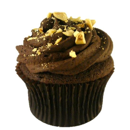 French Chocolate cupcakes are filled with a chocolate-hazelnut mousse ...