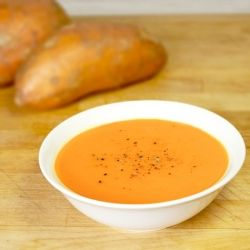 Carrot and Sweet Potato Soup | Sweet and Savory | Pinterest