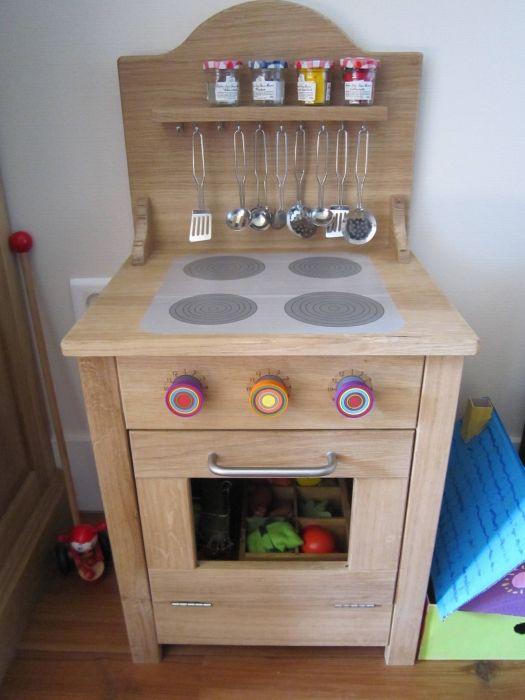 Cuisinière enfant en bois  LAir du Bois  Créations  ~ Cuisiniere Enfant En Bois