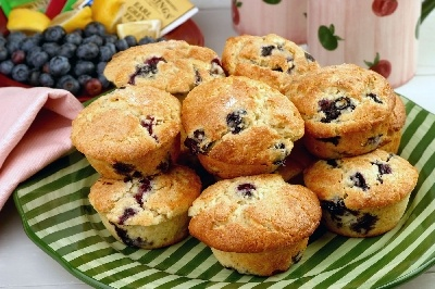 Blueberry Almond Muffins | Bread, Biscuits, Rolls & Muffins | Pintere ...