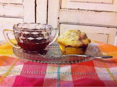 Farmhouse Sugar Crusted Raspberry Muffins and Homemade raspberry jam