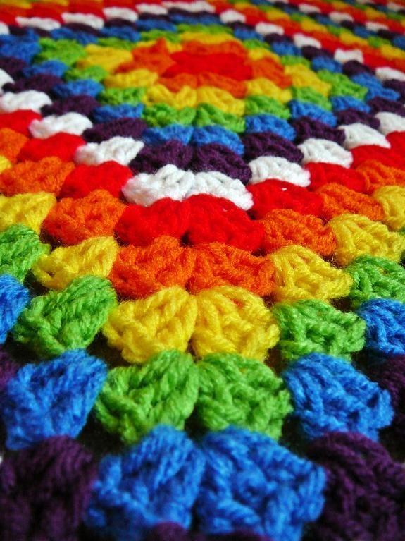 Free Rainbow Blanket pattern Crochet granny squares ...