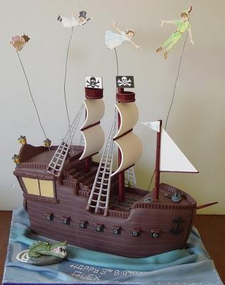 Peter Pan Pirate Ship Cake Perfect!