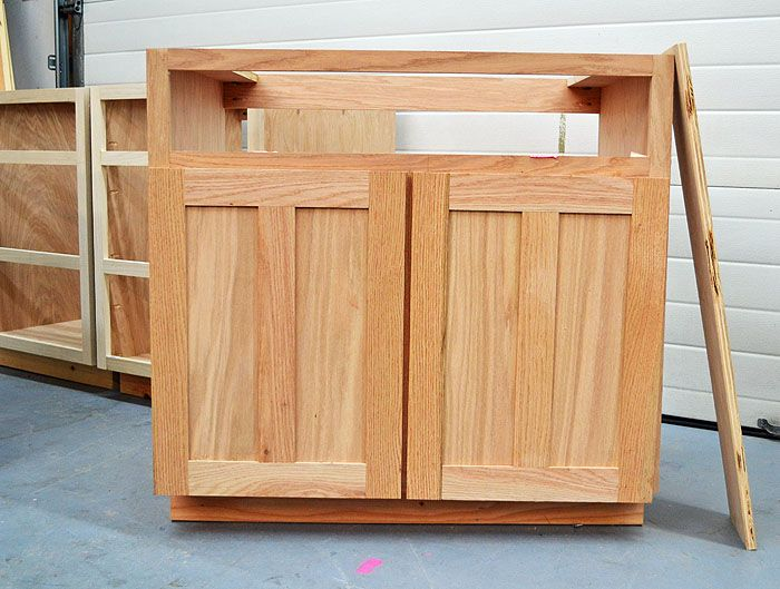 Build Your Own Kitchen Cabinets Free Plans To DIY Standard Sink Base With Fu