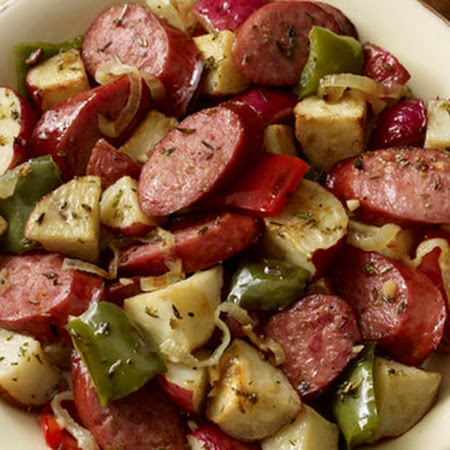 Hillshire Farm Sausage and Potato Bake | Food | Pinterest