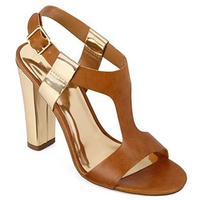 Photo: JCPenney. Chunky heels and chunky high heel sandals are in this