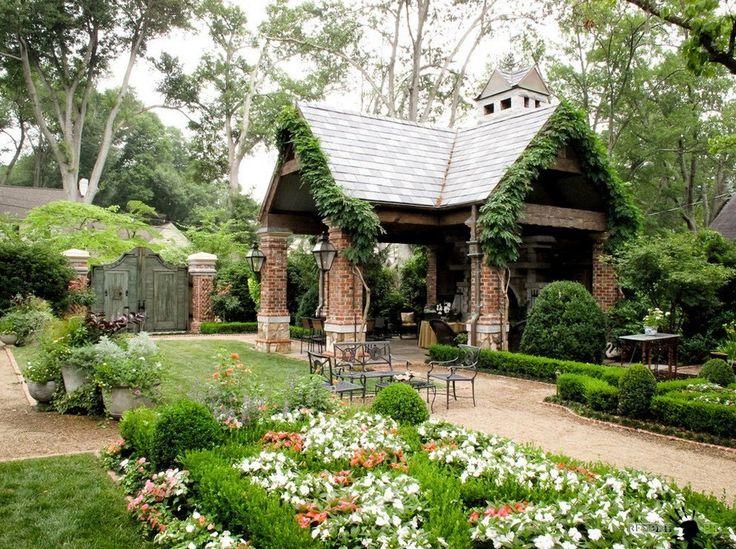 Ландшафтный дизайн маленького двора частного дома