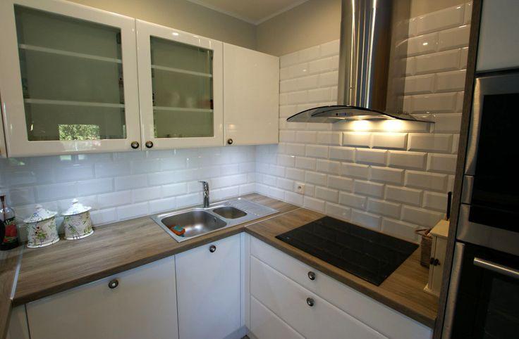 Kuchnia a białe cegiełki  domowe inspiracje  Pinterest -> Inspiracje Domowe Kuchnia