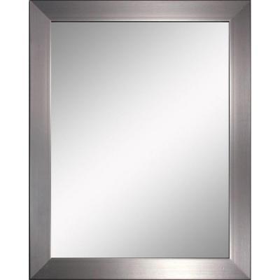 Modern 26 In X 32 In Mirror In Brushed Nickel