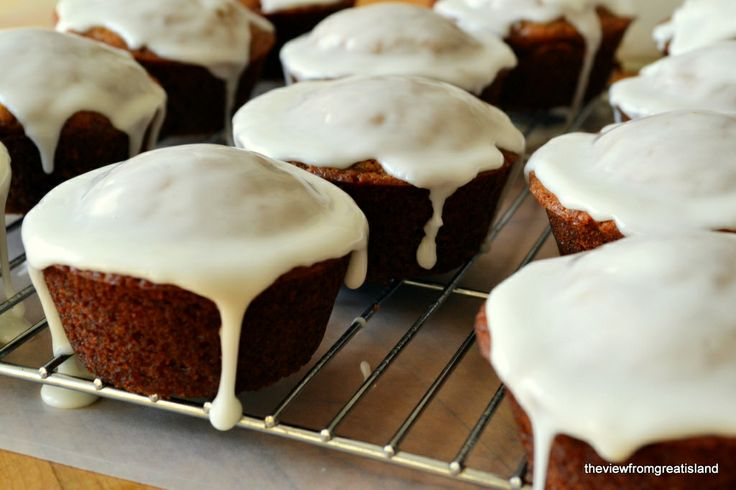 Glazed Gingerbread Muffins mmm