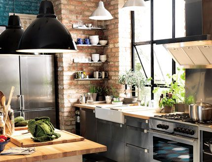 cuisine industrielle d co pinterest