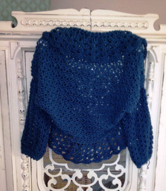 Crochet Xxl Patterns : Crochet Pattern PDF Coastal Cardi Shrug by PartPixyDesigns