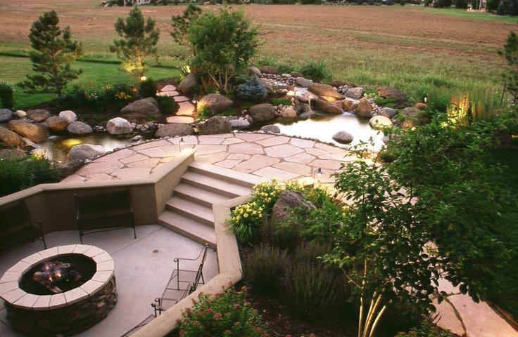 Sunken Backyard Fire Pit : Lindgren Landscape fire pit on sunken patio  Julie  Pinterest