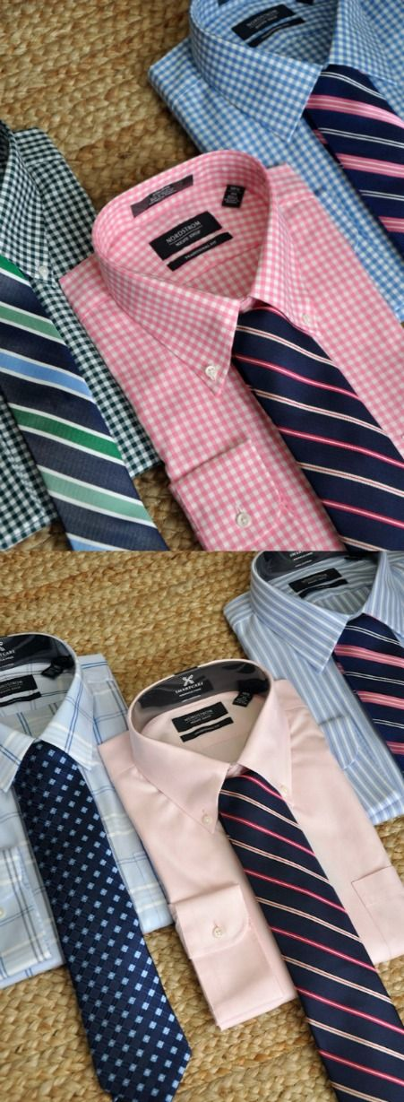 Georges Small Check Pattern Fashion Dress Shirt With