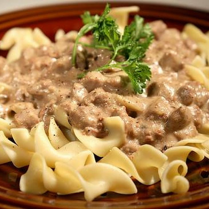 Ground Beef Stroganoff - Gonna have to try this recipe. Sounds yummy!