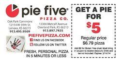 Pie 5 coupons