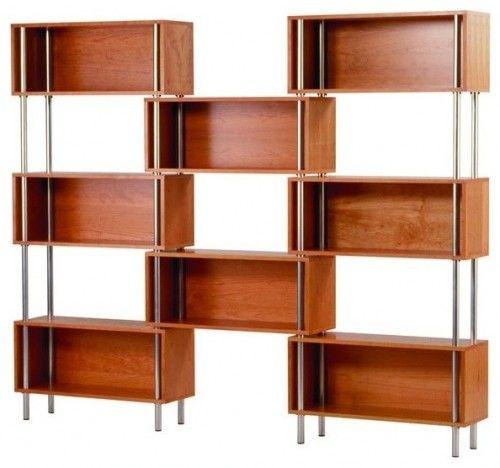 Mid century modern inspired bookshelves  Furniture  Pinterest