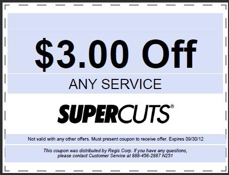 Supercuts printable coupon september 2018