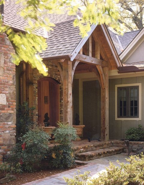 Beams For The Front Porch Love This Look Pinterest