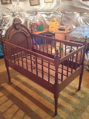 antique baby crib ebay vintage baby cribs