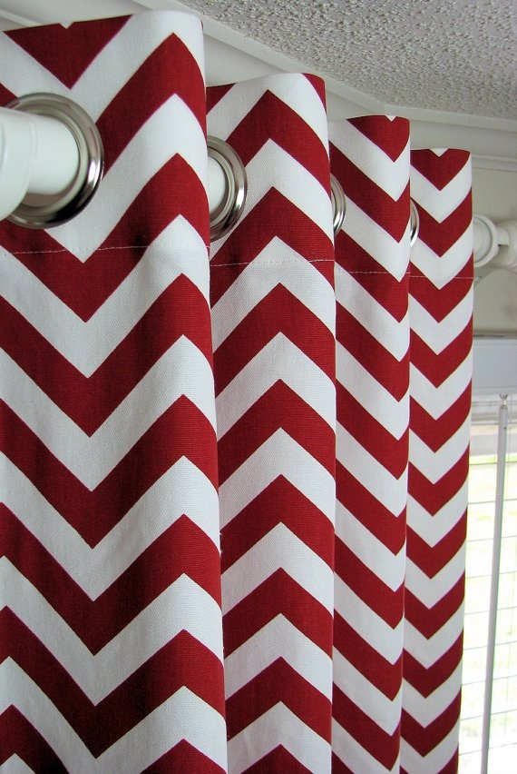 Chevron curtains kitchen ideas pinterest